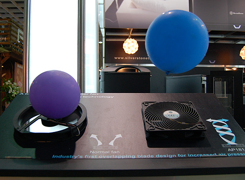 There was also a demo for Silverstone's unique overlapping fan design.