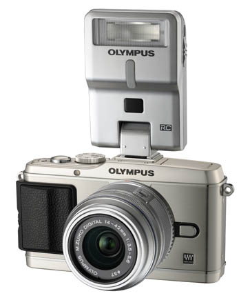 The FL-300R attached to an Olympus E-P3.