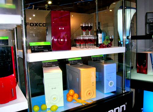 Foxconn's funky fruit inspired designs are part of their TW series of micro ATX casings. Built for the chic and trendy, these cases nonetheless feature decent cooling, ventilation and come with front I/O ports and optional card reader.
