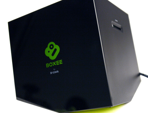 D-Link's media cube might require an acquired taste to appreciate its peculiar design, but it's hard to say no to the pretty green Boxee logo which comes on like a specter when the unit is powered on. Like it or not, this thing will sit pretty on your AV deck.