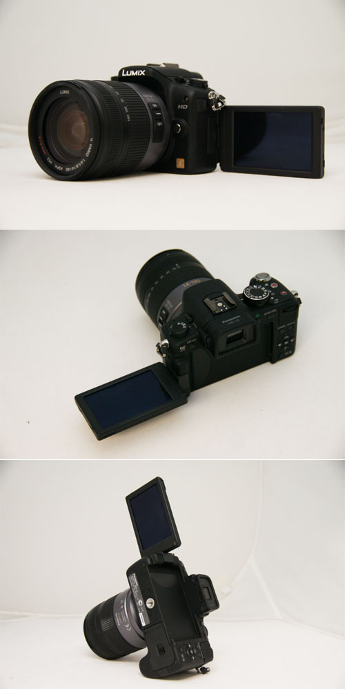 The various angles possible with the G2's LCD.
