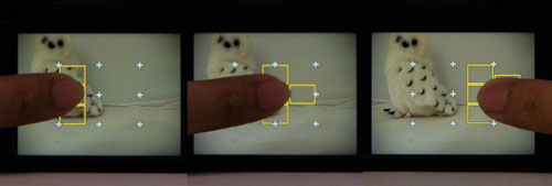 Touch focusing helps you refine your focus points easily, working as an alternative for us more familiar with focus point selection using a physical d-pad.