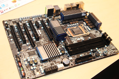 The new Gigabyte GA-P67A-UD5 is the latest motherboard built for the new Sandy Bridge microprocessor. It's also Gigabyte's first foray into black PCB design. The GA-P67A-UD5 comes with a 20 phase power VRM design, SATA 3.0 storage, USB 3.0, two PCIe 2.0 graphics slot for SLI and CrossFireX and their proprietary 3X USB power delivery system.