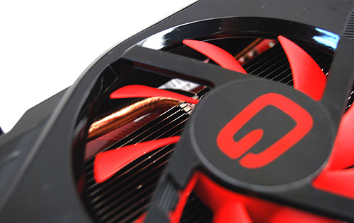 Just like the other cards, heat pipes under the cooler cover help dissipate heat quickly away from the GPU core.