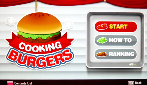 "LG has eight games to offer as part of the INFINIA's entertainment pack, including ""Cooking Burgers"" where you have to match the right ingredients to the pictures shown. While the gaming idea is definitely a plus, we would have liked it better if we had the ""magic remote"" to toy with."