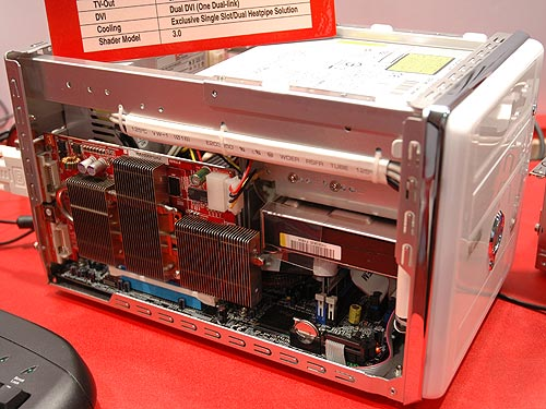 For larger SFF PCs, you will be able to accommodate this full-height Radeon X1600PRO VPU graphics card.