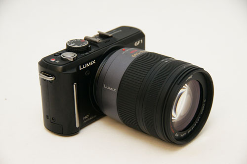 The GF1 with a 14-140mm lens.