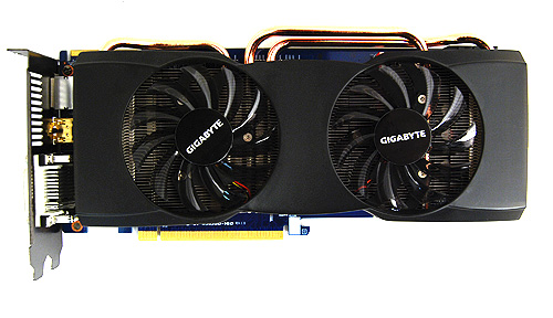 The Gigabyte HD 5830 comes with the dual fan cooler that we've become familiar with, seeing that it has been offered on their high-end cards.