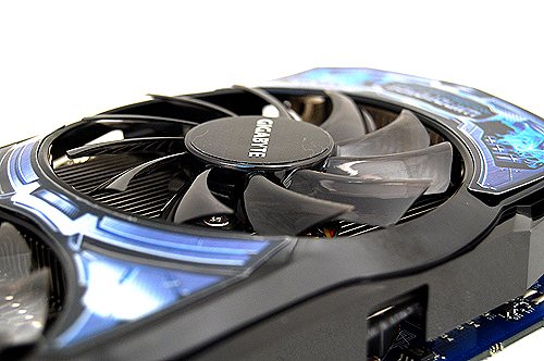 The fans are slightly angled to reduce turbulence for smoother air flow.