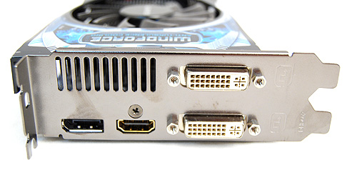 The card gets the usual twin DVI ports, single DisplayPort and HDMI port.