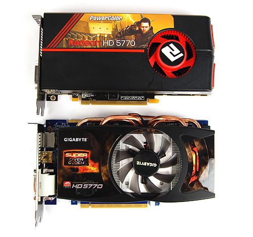 The Gigabyte HD 5770 Super Overclock has a custom cooler that employs a larger fan as well as four thick copper heat pipes.