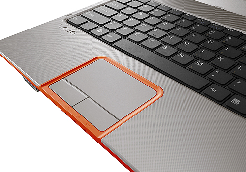 One of the funkier features of the Sony VAIO C include a dimpled palm rest that is as sexy as it is comfortable.