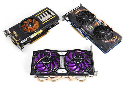 Three of the most extreme GeForce GTX 460 cards currently available have gathered to do battle in our lab.