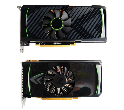 The GeForce GTX 560 Ti is slightly longer, perhaps due to the upgraded 4-phase power circuitry, improved memory modules and the same power monitoring hardware that we first saw on the GeForce GTX 580 and GTX 570.