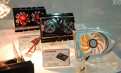 This is Evercool's funky selection of HDD coolers.
