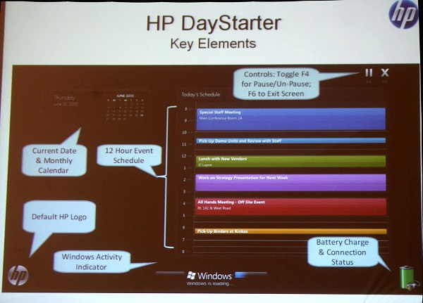 As we mentioned, HP Daystarter ensures you don't waste your idle time while your system is booting up. Finally, something useful to do while Windows loads.