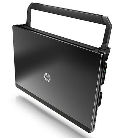 Additionally, the new HP Mini 5102 has a cleverly designed retractable handle that also doubles up as a slight stand for heat dissipation from underneath the netbook. This handle is optional though and no pricing was available for this yet. Also, facial recognition technology is built into the netbook for easy login. Last but not least, the Mini 5102 can be centrally managed for asset tracking and the software comes with the system.