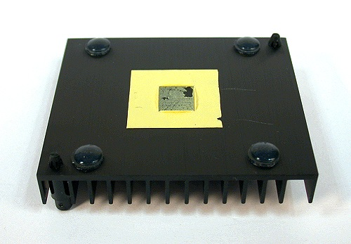The rear of the heatsink.