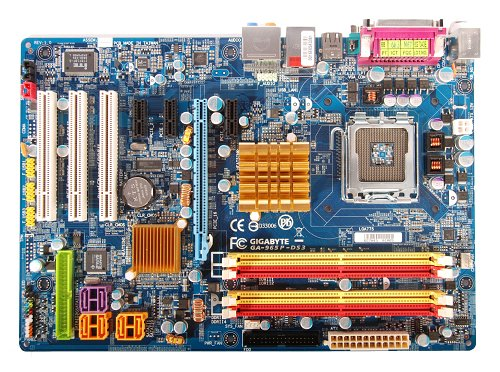 The Gigabyte GA-965P-DS3 motherboard.
