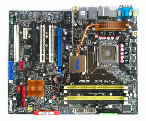 The ASUS P5B Deluxe WiFi-AP Edition motherboard.