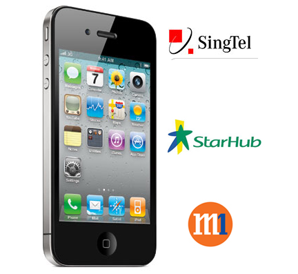 The iPhone 4 will be available in Singapore from 30th July, via the three telcos (M1, StarHub and SingTel) and the Singapore Apple Store.
