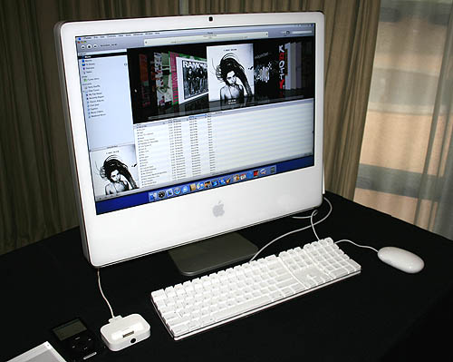 Presenting the new 24-inch iMac shown here with the keyboard and Mighty mouse.