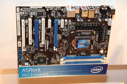 The ASRock P67 Extreme3.