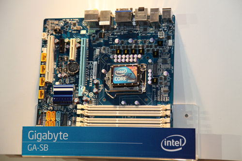 Gigabyte's GA-SB is an early prototype based on the micro-ATX form factor.