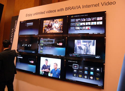 "Besides focusing on their TVs' visual performance, Sony is putting a great deal of effort into their BRAVIA's Internet muscle too. Look out for more Internet-flavored  applications such as videos widgets, social networking apps and ""media remotes"" which transforms your iPhone or Android phone into a remote control."