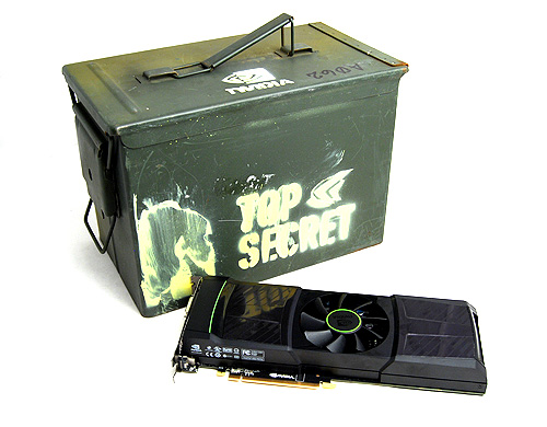 This is the big one. It's so big it even came in a military-grade ammunition casing. With AMD's recent launch of its flagship Radeon HD 6990, NVIDIA is now following suit with its equivalent - the GeForce GTX 590.