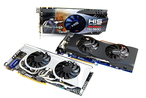 We have thee Radeon HD 5830 cards in our labs and we shall be putting them through our tests to evaluate their performance.