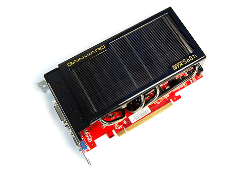 Look ma, no fans! The cooler on the Gainward GeForce GTX 560 Ti is indeed one of the more unique ones we've seen in recent times.