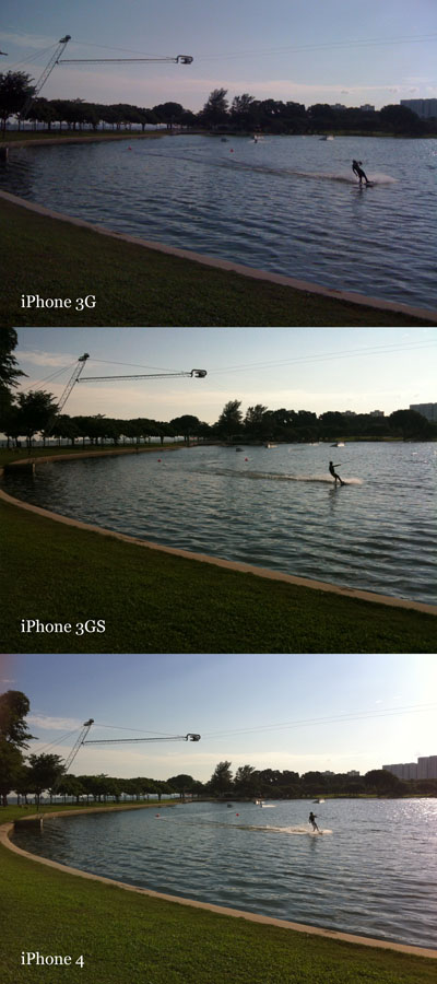 While the 3G has blown the exposure, the iPhone 4 nails it - with more detail to boot (image sizes have been scaled down to match the 3G's smaller resolution).