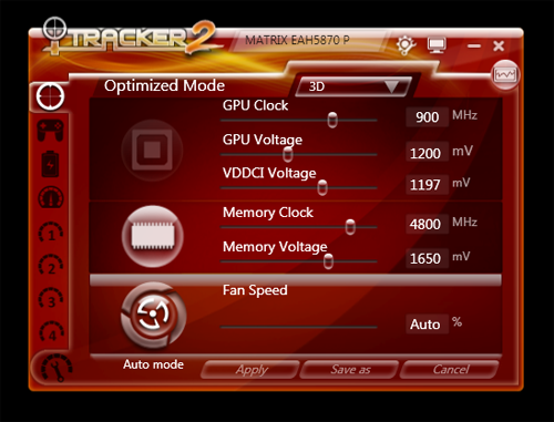 The iTracker2 overclocking utility is simple to use and boasts a wide range of parameters that you can play around with.