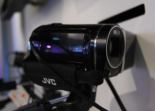 JVC also has a line of new camcorders using normal lens with built-in 2D to 3D conversion output. The GZ-HM960 is the top of the line of these camcorders with a 10.6MP back-illuminated CMOS sensor, 3D glasses-free 3.5-inch LCD and 16GB built-in memory and expandable via SDHC/SDXC.  These cameras also excel in low-light recording.