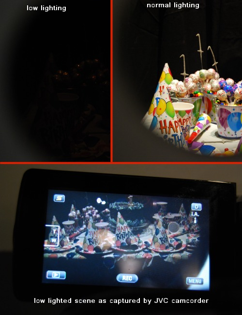 A demonstration of JVC camcorders' ability to excel in capturing in low lighted conditions.