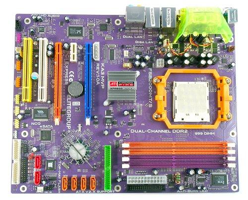 The ECS KA3 MVP Socket AM2 motherboard.