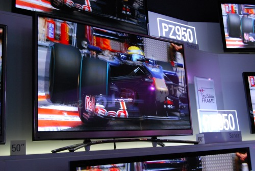 The LG PZ950 is billed as the ultimate plasma TV. With the screen's depth measuring just two inches, it houses a display that has THX 3D certification, LG's new Smart TV functions, built-in 3D RF emitter for active shutter glasses, Magic Motion Remote, intelligent sensor and smart energy savings.