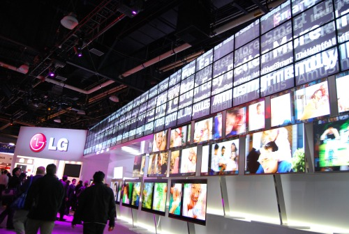LG's hall of TVs was an impressive display to behold.