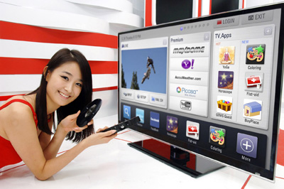 What you're seeing is LG's Smart TV platform at work. Tell me it doesn't look like a giant smartphone UI?