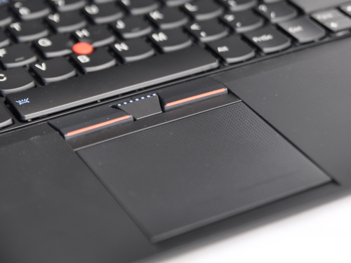 The entire trackpad is a huge button, but it is somewhat hard to click. Tapping on it would suffice as a click.