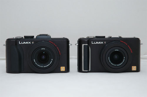 Can you tell which is which? The LX5 is on the left, while the LX3 is on the right.