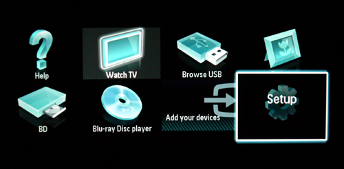 "The ""Add Your Devices"" tab allows you to plonk in an icon for connected AV devices, like the Blu-ray Disc player icon we've added for example. For the unfamiliar, the ""Help"" selection is mighty useful too since it offers informative explanations with graphical illustrations, like basic AV wiring, etc."