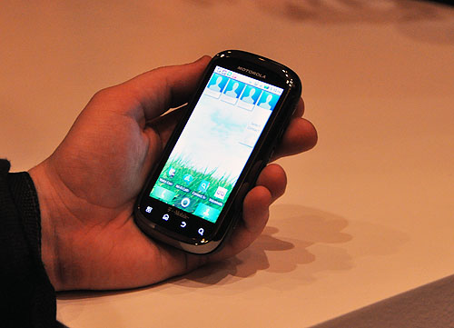 The Motorola Cliq 2 sports a 1GHz processor, 512MB RAM and runs on Android OS 2.2. It also has Motoblur for all your social networking needs. The phone is tied to T-Mobile in the US.
