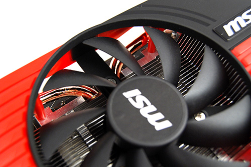 Under the large fan are equally large heat pipes which help dissipate heat quickly away from the GPU core.
