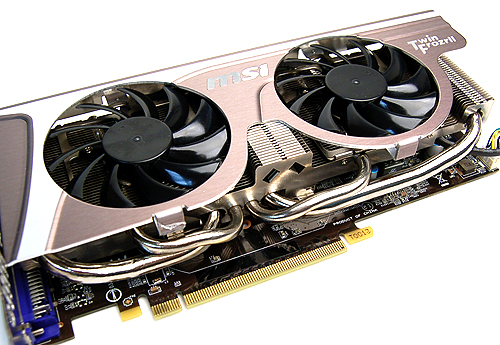 No less than four heat pipes are used to quickly draw heat away from the GPU core to keep the card running cool.