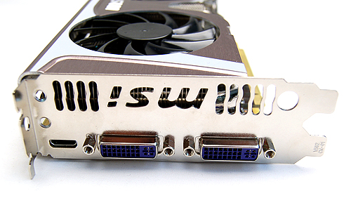 The card gets the usual twin DVI and single mini-HDMI ports for video output.