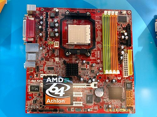 Information about this new Socket M2 micro-ATX board (K9AGM) is rather limited but we do know it's an integrated graphics solution based on an ATI chipset. It comes with a very standard set of features which you could easily tell from the picture.