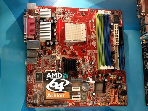 If there's an integrated ATI graphics solution for the Socket M2, then you can expect a similar solution based on an NVIDIA integrated chipset such as this MSI K9NGM.