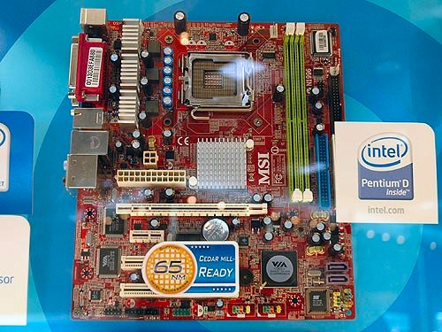 The MSI P4M890 is based on the VIA P4M890 integrated graphics chipset. Supporting the new 65nm Pentium 4 processors, this budget class micro-ATX board comes with only two DDR2-533 memory slots and two SATA ports.